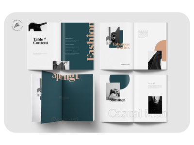 OURISH Mens Fashion Lookbook lookbook fashion layout minimalist minimal clean professional modern catalogue catalog magazine template printable print indesign adobe usletter a4