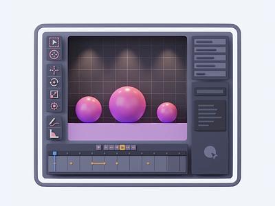 Blender Loop Animation uiux c4d 3d icon 3d animation 3d modeling 3dillustration 3d artist 3d art illustration