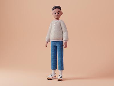Stylish Character fashion 3d animation uiux c4d 3d artist 3d art blender3d 3d modeling 3dillustration illustration