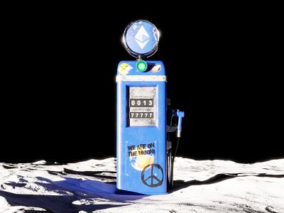 Ethereum gas pump on the Moon c4d crypto blockchain ethereum cgi 3dillustration 3d animation blender3d illustration 3d artist 3d art