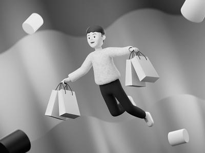 SHOPPING ecommerce shopping 3d 3d animation blender3d 3d modeling 3dillustration 3d artist 3d art illustration