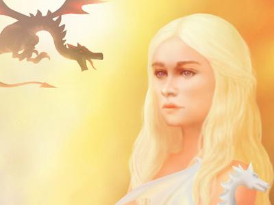 Born of fire 2014 fan art game of thrones daenerys dragon
