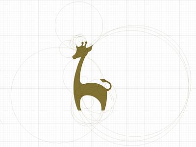 Giraffe deer giraffe logo