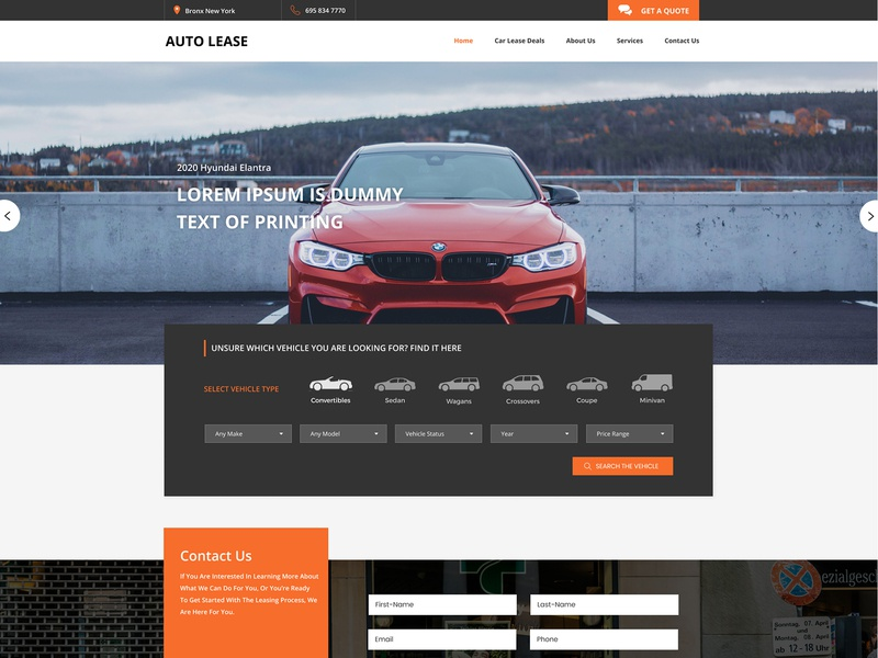 Auto Lease Hub - Version 1 interface creative clean design clean ui ux  ui xd figma prototype landing page car lease car automobile backend frontend development frontend design php laravel web design ui graphic design