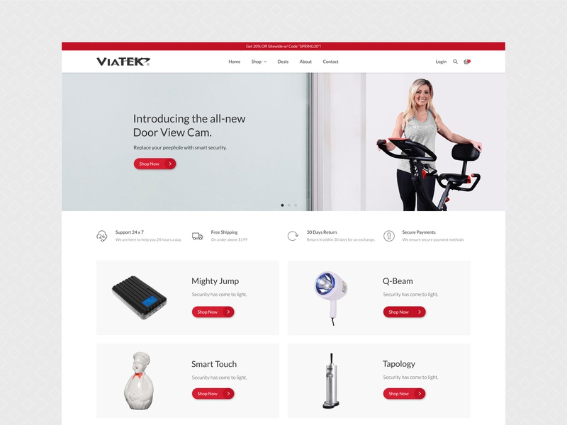 ViaTech - Ecommerce Website Design website interface website redesign landing page design website concept online store electronics store web design ux ecommerce design figma shopify shopify theme ui design graphic design