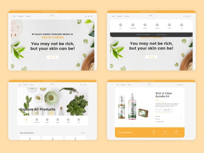 Rich and Clear Skincare - Shopify Website Design ui ecommerce design ux shopify plus shopify store webdesign graphicdesign website mockup website facelift wesbite redesign website design shopify