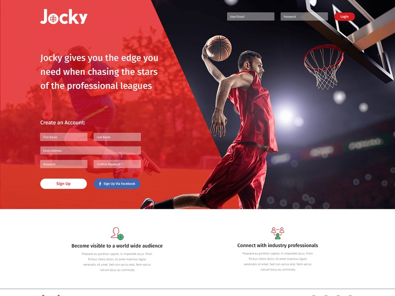 GoJocky - Signup Page By Cirkle Studio social media design sports website graphic design codeignter web design ui design gojocky