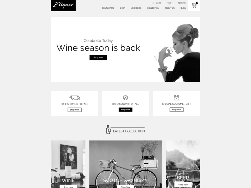 Zliqour - Premium Shopify Theme by Zarathemes theme  mockup photoshop download free theme shopify shopify theme graphic design ecommerce design design web design