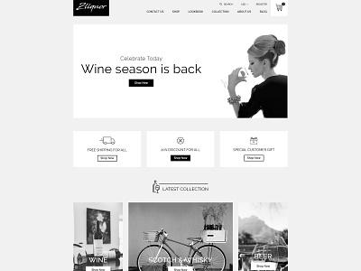 Zliqour - Premium Shopify Theme by Zarathemes theme  mockup photoshop download free theme shopify shopify theme graphic design ecommerce design design web design
