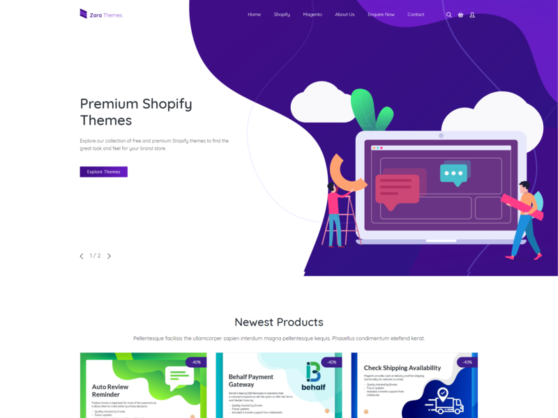 Zarathemes - Themes and Extensions Marketplace download free theme extensions free theme magento web design shopify shopify theme ecommerce design