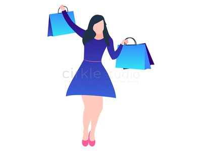 Shopping Lady graphic design design cartoon shop figma illustartion shopping