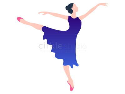Dancing Girl dancing girl vector ui illustration graphic design