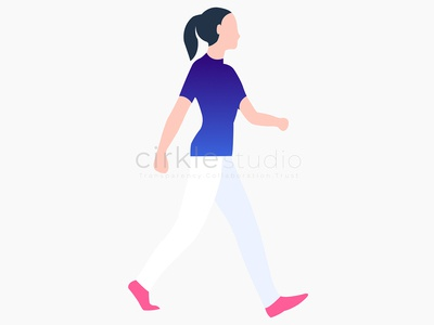 Walking Illustration walking branding vector ui illustration