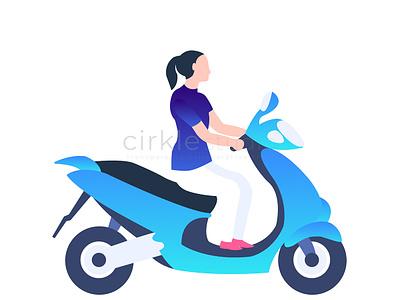 Driving Illustration graphic design design ui vector illustration driving school driving