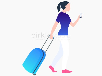 Travel vector illustration ui design graphic design