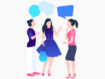Gossip Ladies Illustration ui gossip gossip ladies illustration design graphic design