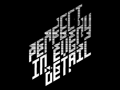 Perfect In Every Detail typography experimental