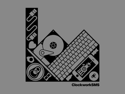 ClockworkSMS Hack Manchester T-Shirt t-shirt made in manchester hack manchester