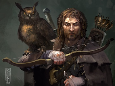 Caine - twitch portrait artwork game illustration dungeons and dragons dnd fantasy