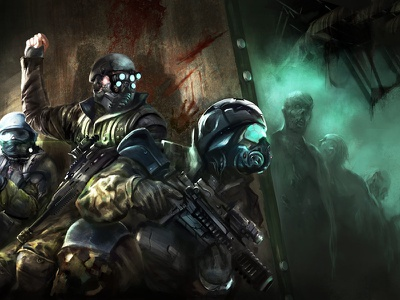 Cleaning up a nest of zombies horror military post apocalypse zombies