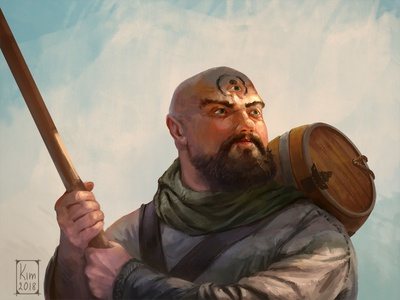Twitch portrait for Encounterroleplay monk portrait rpg fantasy dnd dungeons and dragons