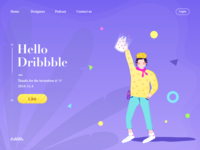Hi, dribbblers!  So happy to join the Dribbble family!
