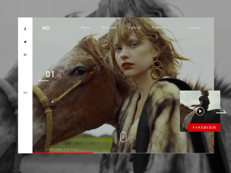 MO Music Store Blog Page ux ui shop interface concept girls fashion categories blog article art music art music