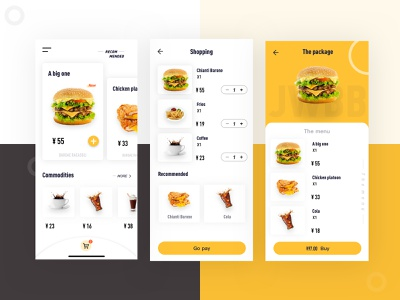 A fine interface of the food 吃 设计 汉堡包 饮食 餐饮 简要 ui