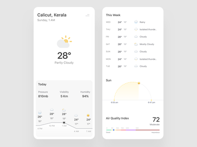 Weather App weather forecast asish sunny weather app trending mobile app weather minimal clean cards app design ux ui
