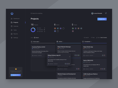 Project Board kanban project management management project board dark mode dark ui dark dashboard product minimal clean app design ux ui