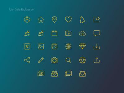 Icons Style Exploration