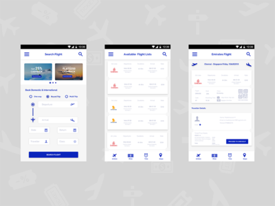 Airport App for flight ticket booking
