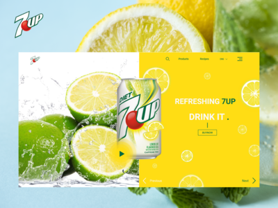 7up Home page redesign