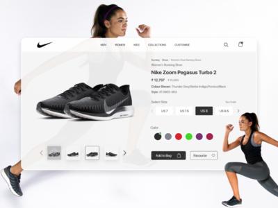 Nike App Redesign Challenge for Desktop