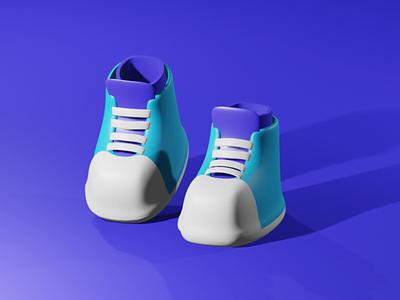 3d simple website brand ux vector illustration design branding sketch blender 3d artist 3d animation 3d art shoes 3d