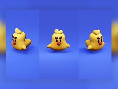 Duck 3D website brand vector ux illustration design branding duck logo icon ducks blender 3d duck