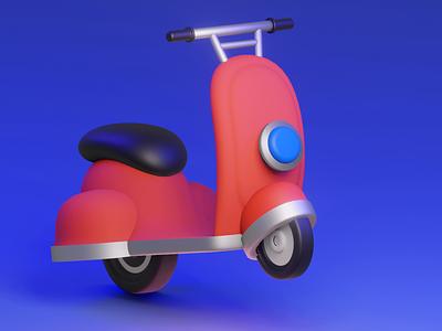 Delivery Bike 3D 3d food delivery blender ux vector illustration design branding