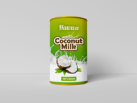 Coconut Can Mockup
