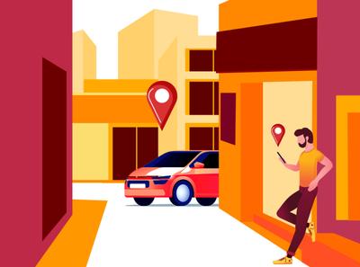 Taxi Booking Concept