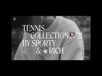 Sporty & Rich design typography web branding ui layout minimal