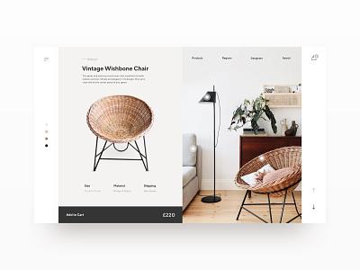 Scandinavian Interior scandinavian nordic furniture e-commerce website minimal flat web type logo design ui ux typography