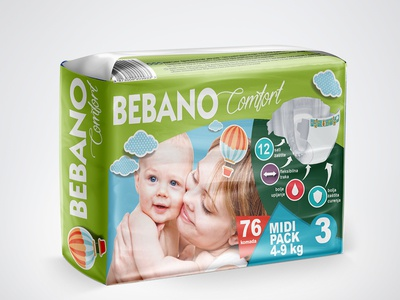 Private label Bebano diapers