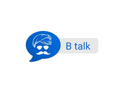 B talk branding logo