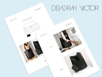 Devorah Victor- Website Design website design online shop logo ecommerce