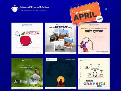 Social Media Post: April festival social media