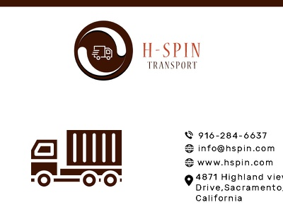 Hspin Visiting Card branding typography logo design