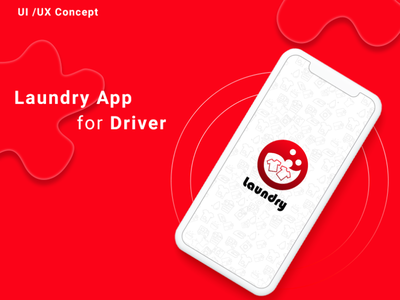 Laundry App for Driver - On-Demand Uber for Laundry illustration design laundry app for driver laundry app for driver laundry on-demand laundry app