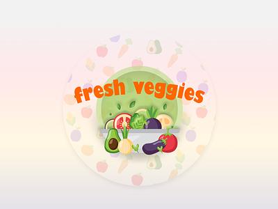Best On Demand Fruit And Vegetable Delivery Business App Develop logo illustration branding design