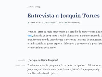 Interviews Blog Template
