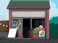 Unfinished Shop Facade aseprite gamedev game pixel pixel art